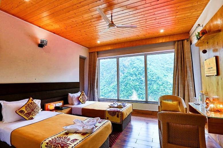 Rishikesh Mountain View Hotel Accommodation at Veda5 Ayurveda, Panchakarma & Yoga Retreat in Rishikesh, India