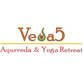 Veda5 Luxury Ayurveda and Yoga Retreat in Rishikesh Himalayas India Logo