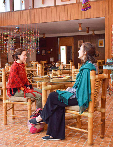 Veda5 Luxury Restaurant in Rishikesh Himalayas for Ayurveda and Yoga Retreat