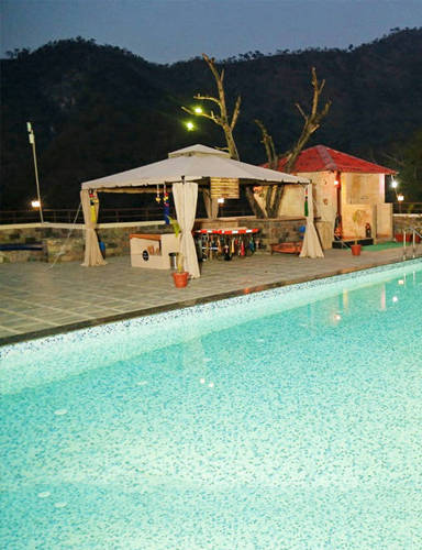 Veda5 Swimming Pool in Rishikesh with Beautiful Views of Himalayas India