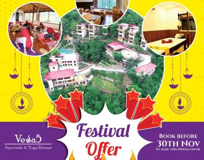 Veda5 Luxury Ayurveda Yoga Retreat in Rishikesh Himalayas India Festival 2018 Offer