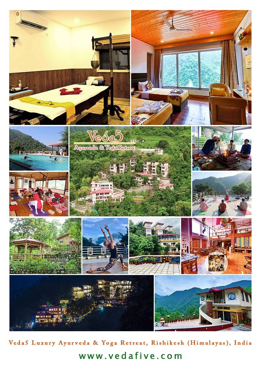 India Himalayas Rishikesh Ayurveda Yoga Luxury Retreat at Veda5