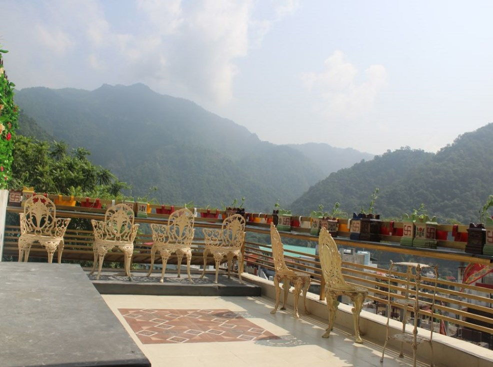 Sit Back Unwind Enjoy the Beautiful Views from Veda5 Sky Cafe of Rishikesh and Himalayas India