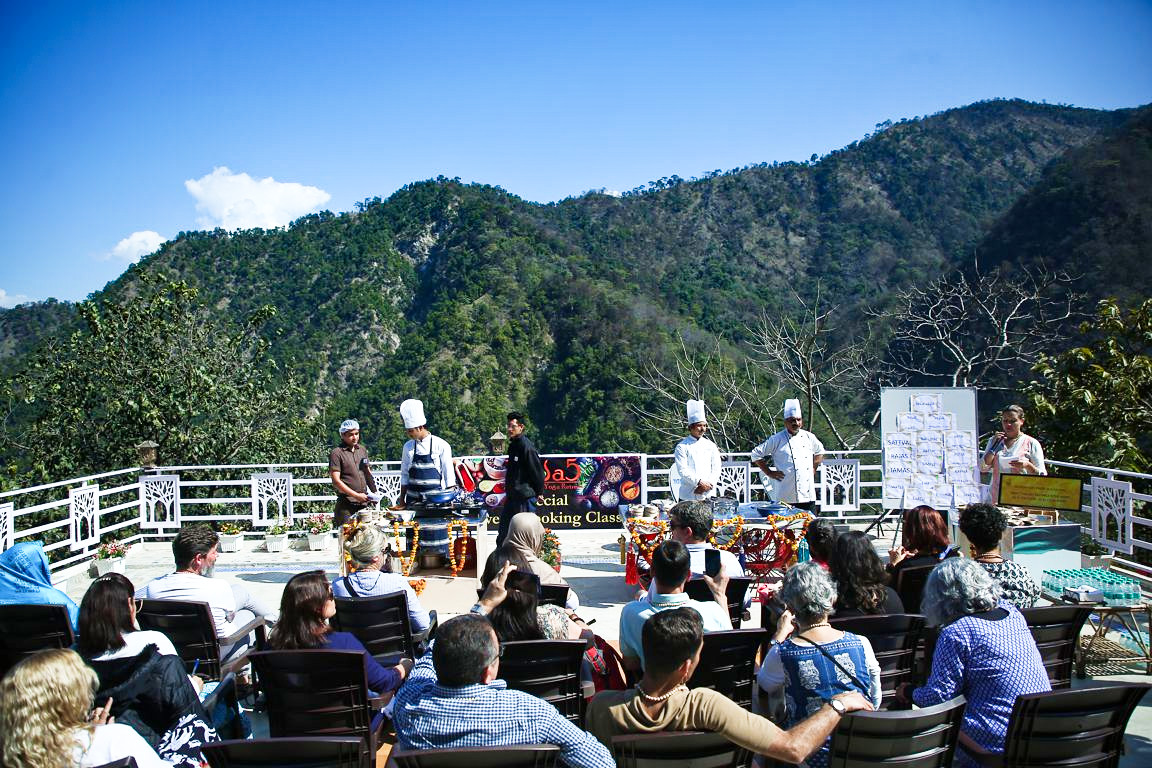 International Yoga Festival Rishikesh - Dining at Veda5 Luxury Ayurveda and Yoga Wellness Retreat Rishikesh Himalayas India