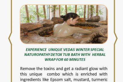 Detox Tub Bath with Herbal Wrap Naturopathy Treatment - Winter Special - Veda5 Best Luxury Ayurveda Panchakarma Yoga Wellness Retreat Rishikesh India