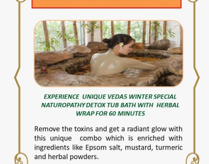 Detox Tub Bath with Herbal Wrap Naturopathy Treatment - Winter Special - Veda5 Best Luxury Ayurveda Panchakarma Yoga Wellness Retreat Rishikesh India