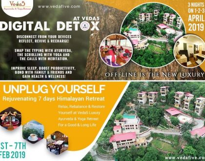 Digital Detox and Ayurveda at Veda5, The Best Wellness Retreat in Rishikesh, India