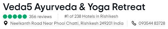 Veda5 is Tripadvisor Best of the Best Retreat Resort Hotel in India
