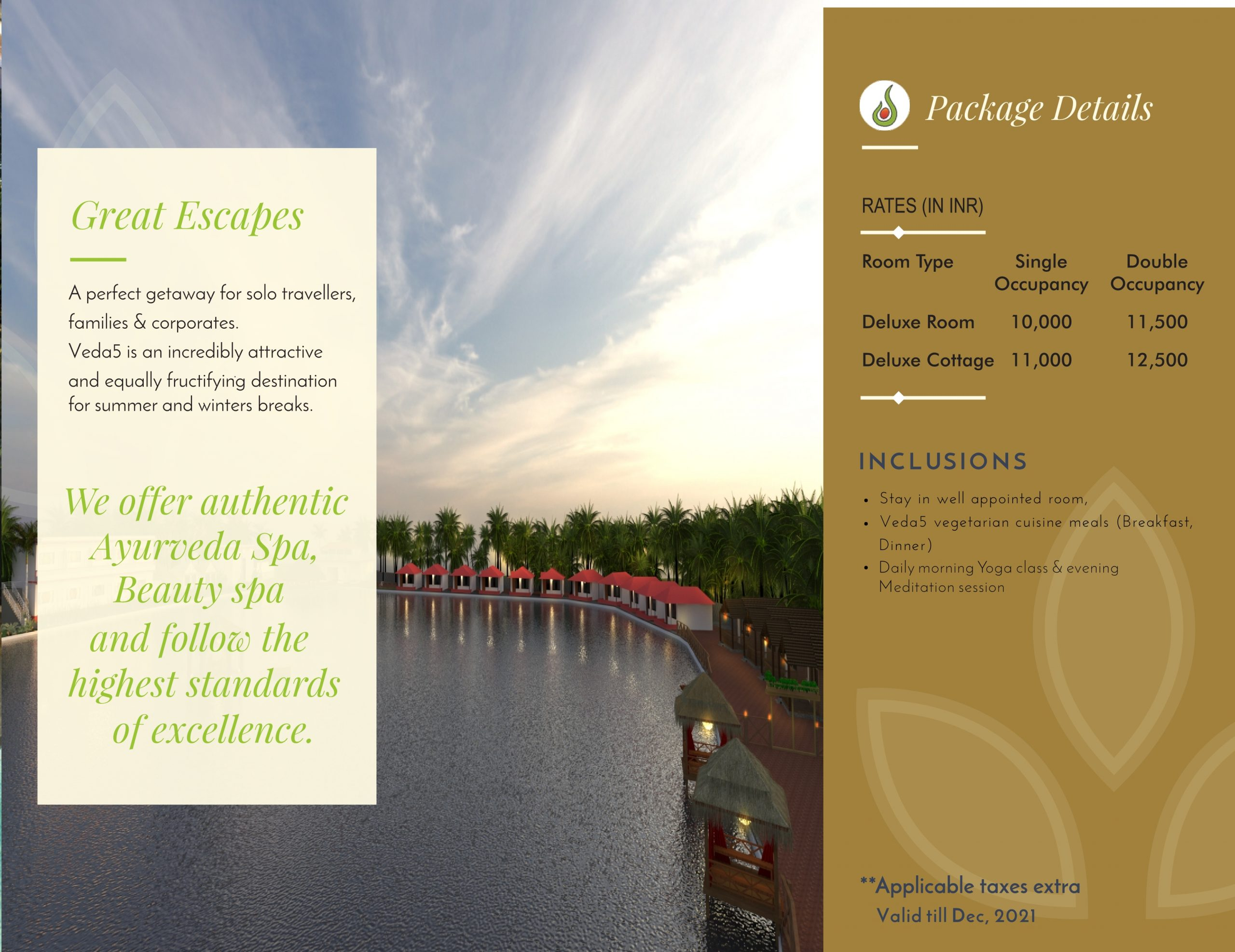 Veda5 Wellness Retreat and Spa in Arambol Goa India Hotel Resort for Vacation and Ayurveda Spa and Beauty Spa and Yoga
