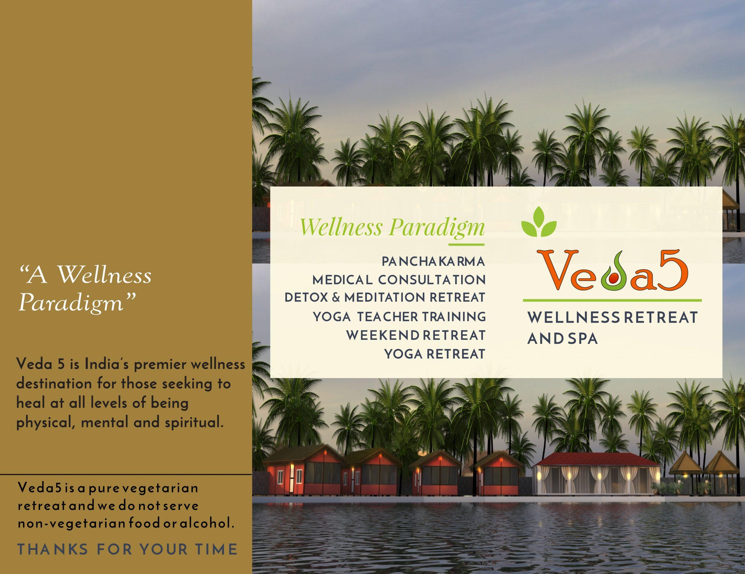Veda5 Wellness Retreat and Spa in Arambol Goa India for Ayurveda Panchakarma Detox Yoga Meditation and Hotel Resort for Vacation