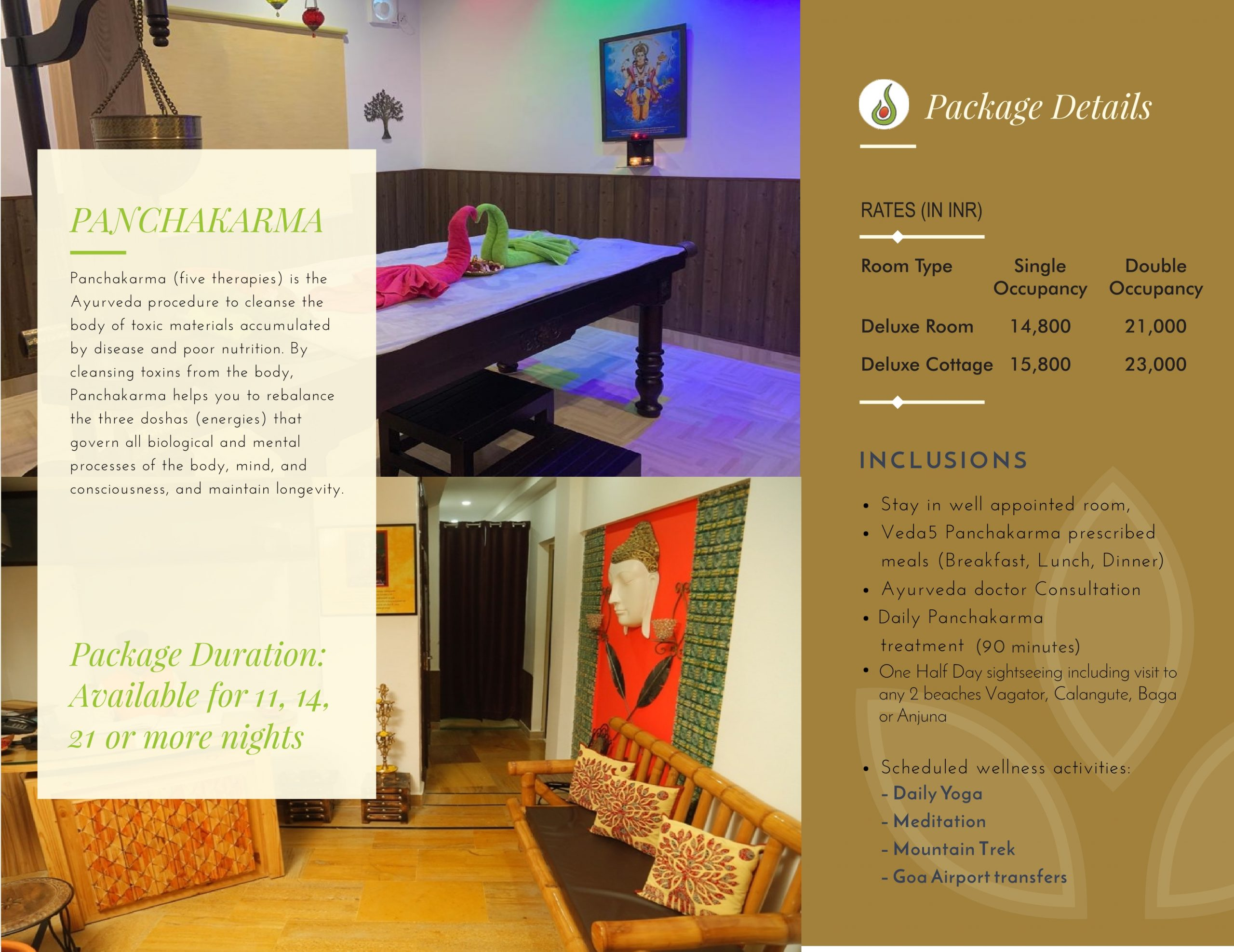 Veda5 Wellness Retreat and Spa in Arambol Goa India for Ayurveda Panchakarma Treatments and Yoga and Hotel Resort for Vacation - 1
