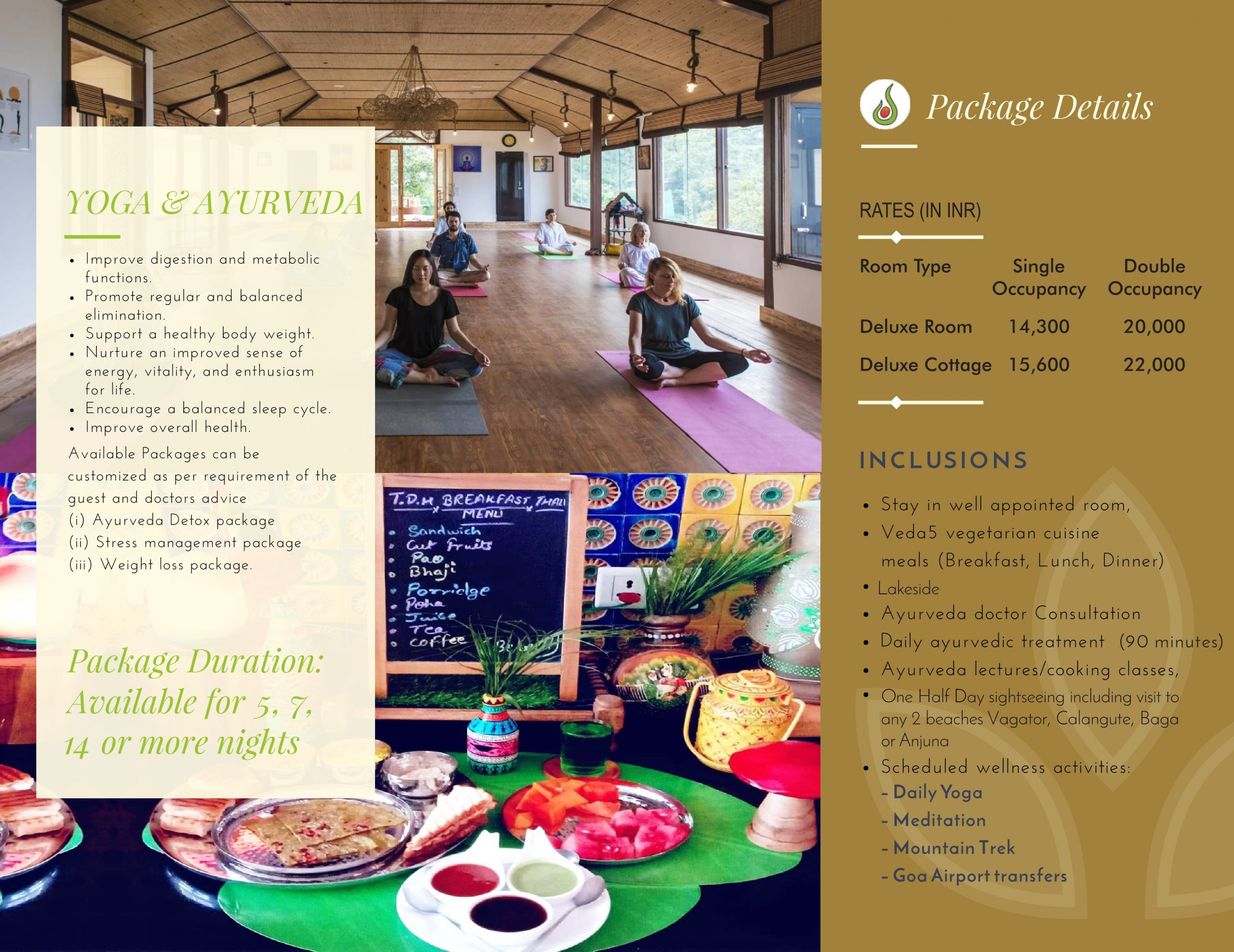 Veda5 Wellness Retreat and Spa in Arambol Goa India for Yoga and Ayurveda Panchakarma Treatments and Hotel Resort for Vacation - 1